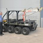 Argo 8 Wheel Drive All Terrain Vehicle with Crane